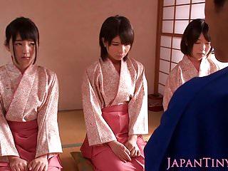 Japanese geishas cocksucking in asian fourway...