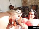 Cock Hungry Nina Kayy StrapOn Fucked By BBW Angelina Castro!