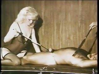 Interracial domination in leather while she watches