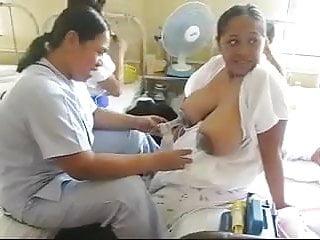 Milk pumps boobs...