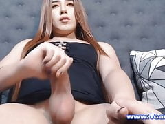 sexy hot trans likes to suck infront of her camPorn Videos
