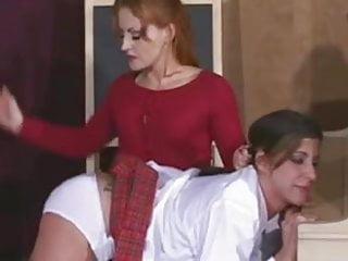 Spanked lesbian school girl...