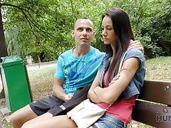 HUNT4K. Cuckold watches how his girlfriend Liliane fucks