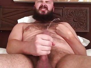 bearded gay cub shots big load