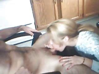 Cute blond sucking dick