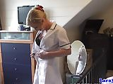 British mature nurse sharing cock in trio