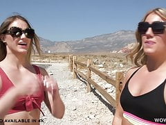 Kenzie Madison and Candice Dare enjoy their first date