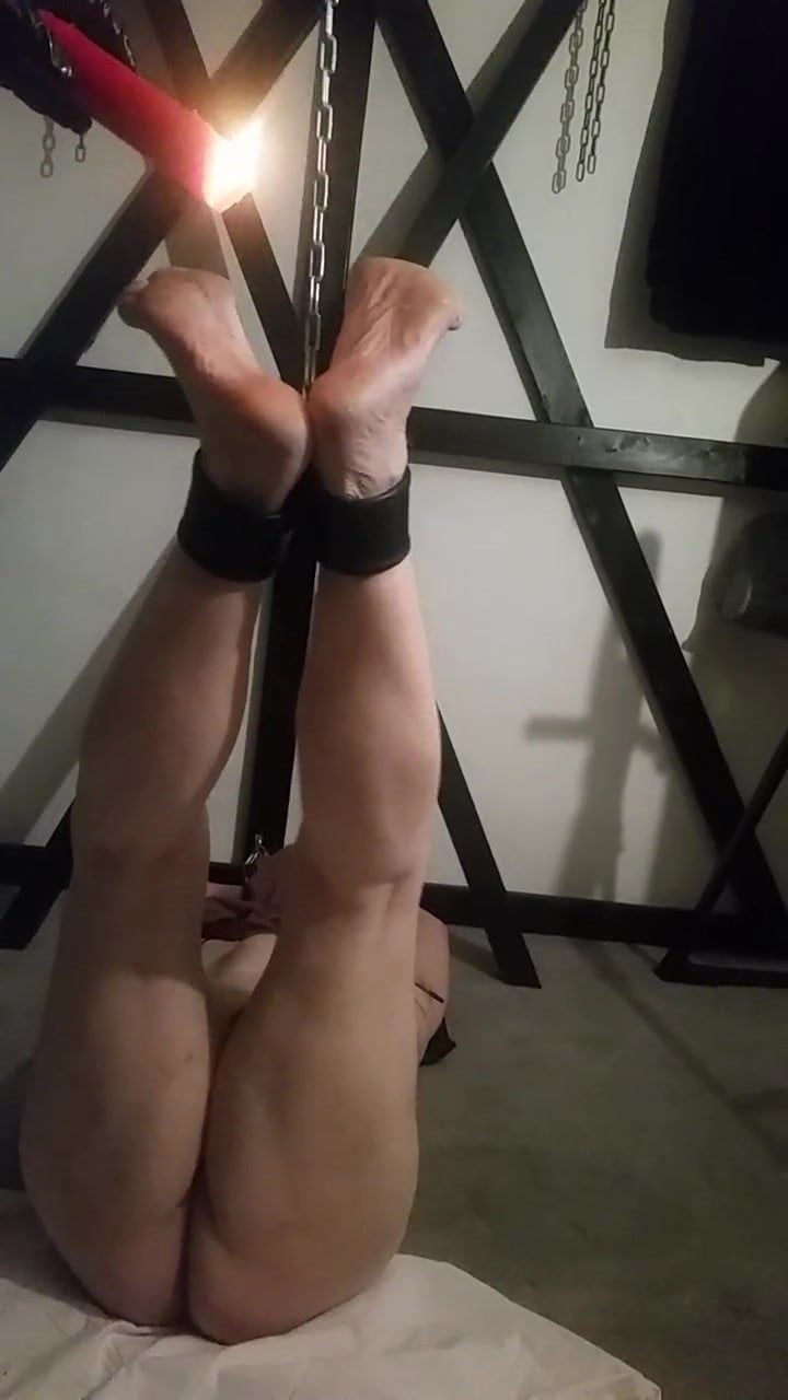 Amateur Slave slave with wax and tooth paste - amateur, bdsm, gay wax