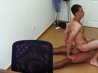 Straight dude cock takes cock in his ass...