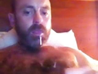 Hot horny hairy wanker