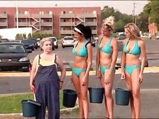 Sexy Car Wash Prank with hot Bikini Babes