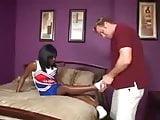 Ebony cheerleader interracial.