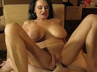 Granny sucking and fucking a younger man...