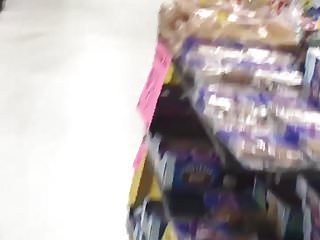 In grocery store...