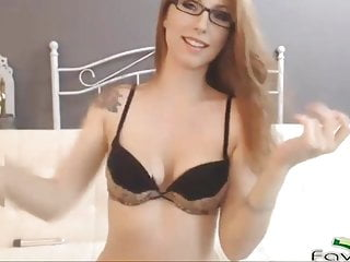 Your dream ginger sexy stockings and glasses...