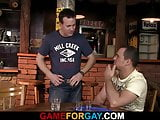 Gay sex with slut boy in the bar