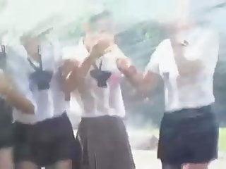 Four Hot Japanese Girls Get Hosed