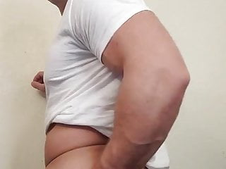 Redneck country straight shows off ass