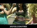 Mofos - Three HOT GFs start public orgy at the train station