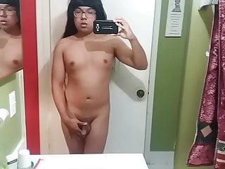 Teen Femboy rubbing his soft cock