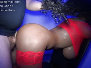 Black sex doll anal doggy loud moaing taking...