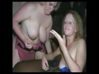 Barby bukkake at club lick...