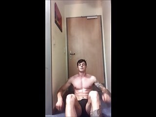 Soldier wanking and talking dirty
