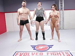 Brandi mae rough wrestling sex fight vs jack...