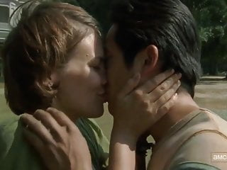 Amwf lauren cohan interracial kiss korean man...