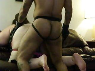 Black master dominates bbw...
