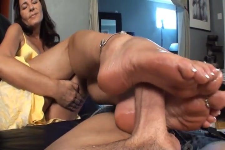 Ebony Friends Mom Footjob