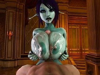 and a cum 3D tittyfuck in drenched Soria gives gets