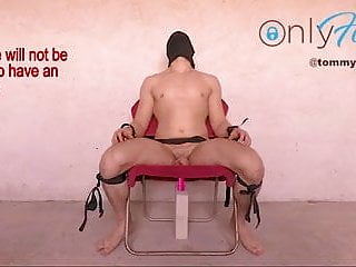 BDSM Chair – Prostate EDGING Anal Probe Restrained MOANING