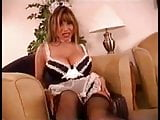 French maid Ava playing with a bottle