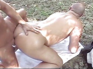 Daddy shaved hair around ass hole for cruising...