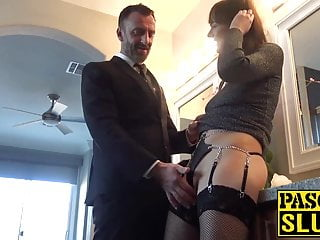 Subslut Sailor Luna fingered and stretched with cock