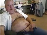 Hairy Dad Wanks and Cums