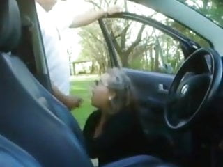 Mature mom sucks young boys public car...