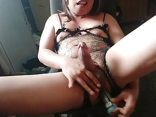 AnneBelleCd Stroking Cock as Fucked Boipussy