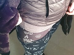 Romanian prostitute in leggings negotiates price for sex