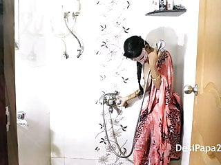 Mumbai Desi College Girl In Shower Perform A Wet Strip Show