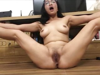 Me For Chick Hairy Asian With A Pussy Masturbating