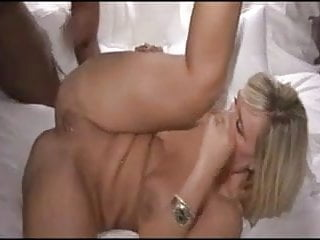 Hot blonde milf gets fucked and creampied by bbc