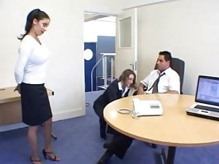 British Sluts Poppy and Alexis get fucked in the office