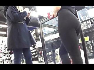 Teen Big Ass Babe video: Amazing ass shoe store