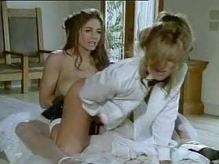 Lesbian bride and groom strapon fuck...