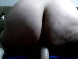 Bbw humps a huge dildo