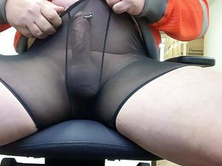 Playing with my cock at work camera under my desk