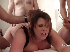 bbw lisa sparxxx gangbanged and showered in cumfree full porn