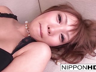 Cute Asian girl masturbates with a tiny vibrator